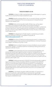 COVID-19 Executive Order N-25-20